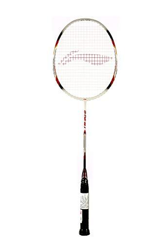 Li-Ning G-Tek 60 II Strung Carbon Fibre Badminton Racquet (White, S2, 88 Grams, 22-24 lbs)