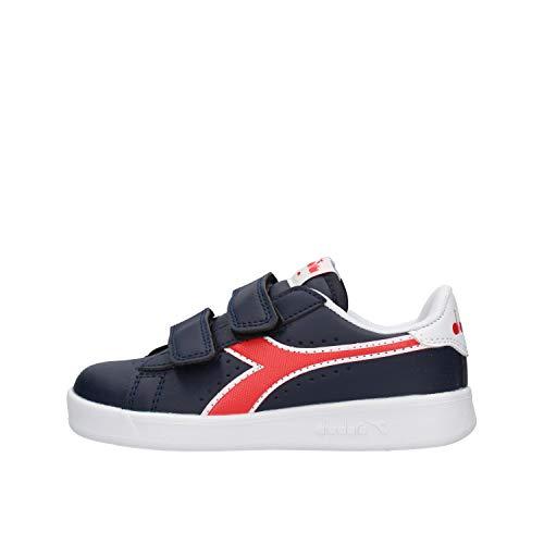 Diadora Game P PS, Chaussures de Fitness Garçon Mixte Enfant, Noir (Black Iris/Poppy Red/White C8594), 28 EU