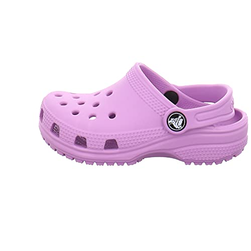 crocs unisex child Kids' Classic   Slip on Shoes for Boys and Girls Water Shoes Clog, Orchid, 7 Toddler US