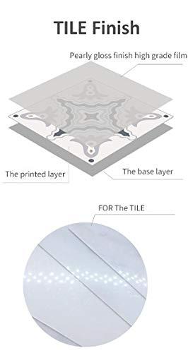 Byrhgood 10/15/20/25 / 30cm Autoadhesivo Azul y Blanco Pegatinas de la Teja de Porcelana Cocina Muebles de baño Muebles Paquete de decoración de 10 (Color : For The Tile, Size : 15x15cmx10pcs)