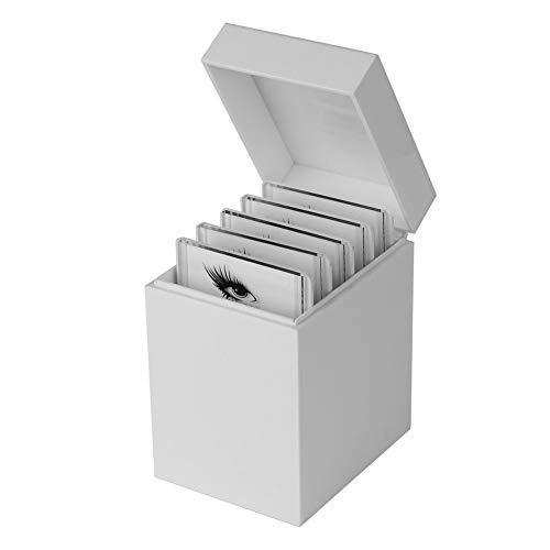 Caja de almacenamiento de pestañas postizas rígida - 5 capas Juego de herramientas de pestañas postizas exquisito Juego de herramientas de pestañas postizas vacías Estuche de pincel de pestañas postiz