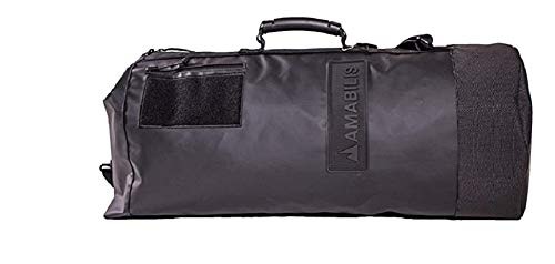 AMABILIS Water Resistant, Heavy Duty Dave Duffel Bag, 25 x 12 Inches - 46 liters/2827 cu. In, Stealth Black