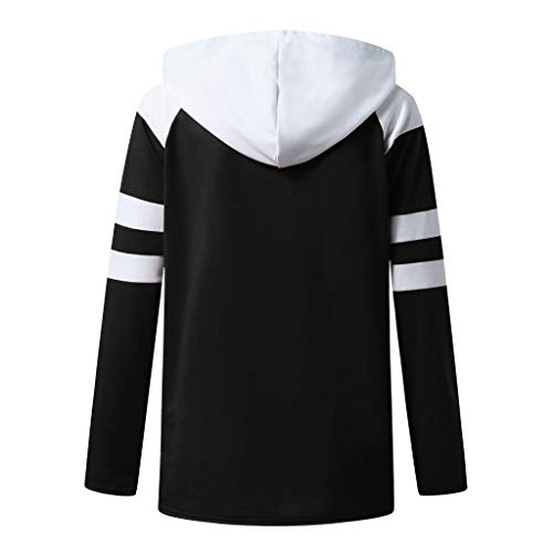 Fasclot Women Blouses and Tops Plus Size Women Plus Size Sweatshirts Long Sleeve Oversized Pullover Tunics with Pockets Black 3XL