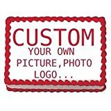 Create Your Own Custom Edible Cake Image Topper 1/4 Sheet Photo Cake Frosting Icing Topper Sheet Personalized Custom Customized Birthday Party …