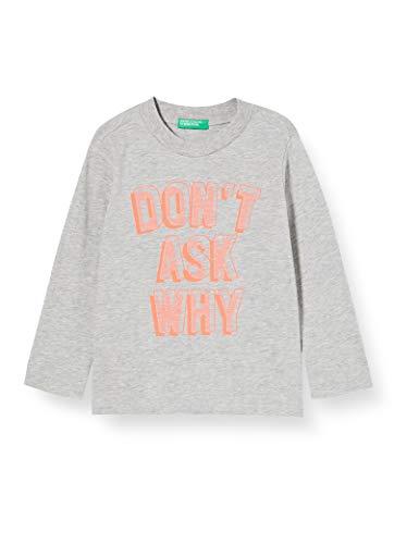 United Colors of Benetton Baby-Jungen T-Shirt M/l Langarmshirt, Grau (Grigio 501), 86/92 (Herstellergröße: 2y)