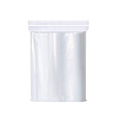 100pcs Thickening Grip Seal Bags,14*20cm Poly Zip Lock Bags Sealable Zip Bags Resealable Clear Plastic Bags,Sealed Storage Pouches for Kitchen Storage,Jewellery,DIY Arts,Office Stationery Storage Bag