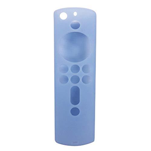 HilMe - Cover per telecomando Fire TV Stick 4K, in silicone, antiscivolo, leggera, antiurto, per Fire TV (terza generazione), Non null, Blu luminoso., Taglia libera