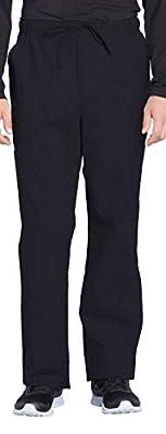 Cherokee Workwear Professionals Men's Tapered Leg Drawstring Cargo Scrub Pant, M, Black