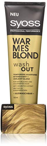 Syoss Wash Out Warme blond niveau 0, (150 ml) Warm blond.
