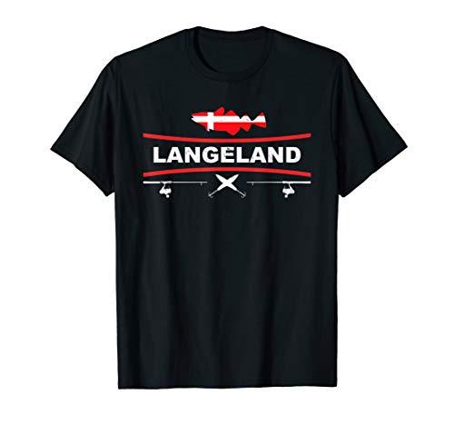 Langeland Angeln Dänemark Pilker Dorsch Hochseefischen T-Shirt