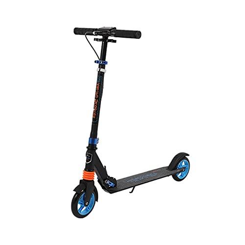 Patinete freestyle Scooter de la ciudad de KickScooter City para adultos y niños Scooter plegable Correa de aluminio completo ABCE-9 Rodamientos y absorción de golpes, Ajustable en altura, superficie