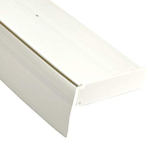 Bestlivings 1-Läufige Vorhangschiene mit Innenlauf aus Kunststoff in 300cm (2x90cm, 1x120cm), Kunststoff Blende GRAU, Gardinenschiene