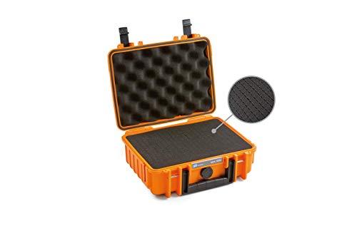 B&W Transportkoffer Outdoor Typ 1000 orange mit Würfelschaum - wasserdicht nach IP67 Zertifizierung, staubdicht, bruchsicher und unverwüstlich