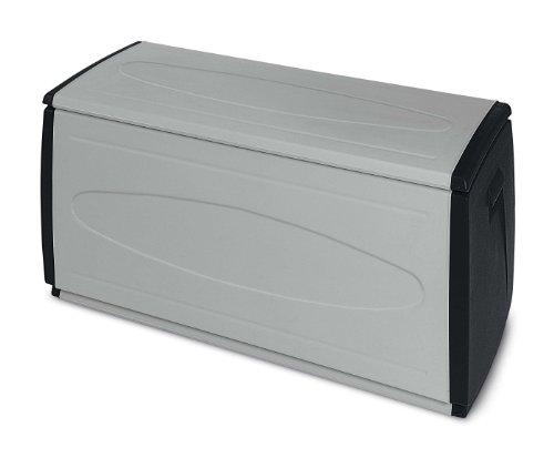 Terry 66253 Sitz-Truhe für innen und außen, Grau/Schwarz 120