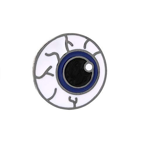 Insignia de molde de médico de medicina interna de 5 estilos, broches de ojo de corazón y sistema de cerebro para entusiastas de la medicina, regalos para maestros y enfermeras, ojos