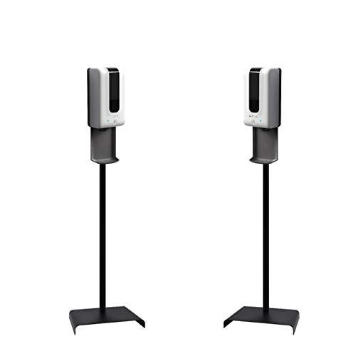 Luxton 2 Pack Automatic Hand Sanitizer Dispenser/Soap Dispenser - Sanitizing Station - Floor Stand, Drip Catcher - Touchless Auto Sensor, Refillable 1200ml Bottle - Portable