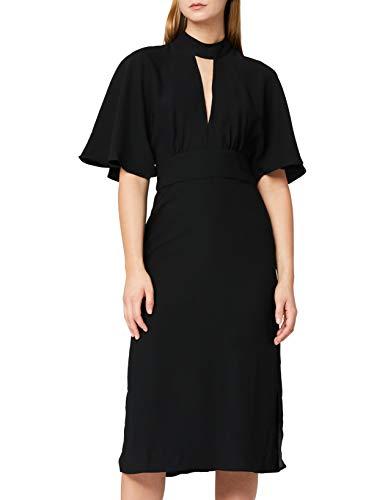 Marchio Amazon - TRUTH & FABLE Vestito Elegante Donna, Nero (Black), 40, Label: XS