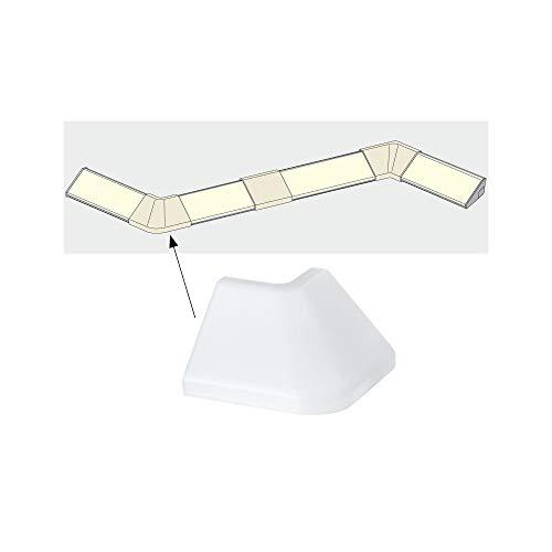 Paulmann 70265 Delta Profil Corner für den einfachen Profilabschluss an Raum-Außenecken 2er Pack Delta Profil Zubehör Satin Kunststoff für LED-Strips