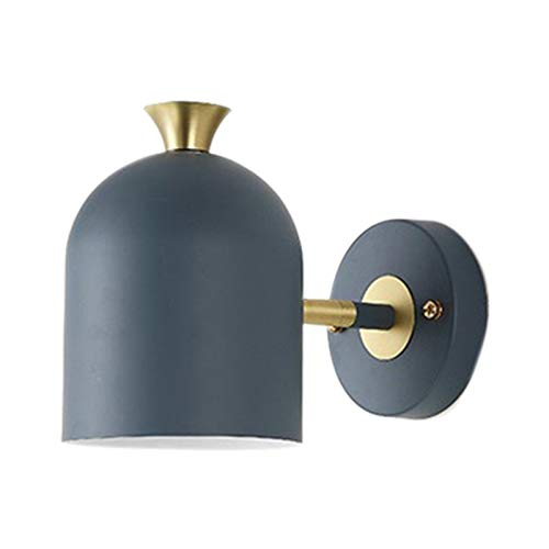 Beada Moderna sencillez lámpara de pared en estilo nórdico, 5 W, habitaciones, comedor, dormitorio, habitación infantil, trabajo, color azul