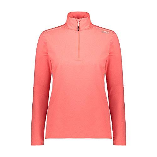 CMP Damen Pile Da Sci Softech Long Sleeve Shirt, Red Fluo Mel, 42