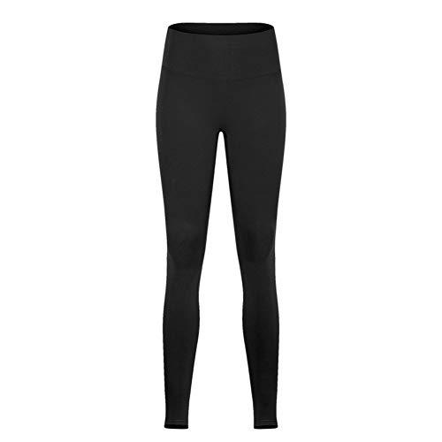 MESYR Leggings Yoga Sport voetpanty vrouwen high waist dikke nylon fitness dans voetbroek leggings Medium zwart