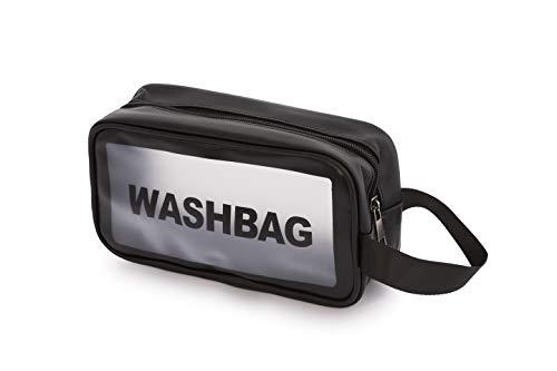 Transparente PVC-Tasche mit Reißverschluss, wasserdicht, Kosmetiktasche und Organizer für Reisen, Badezimmer, drei Größen und drei Farben, Weiß, Schwarz und Pink