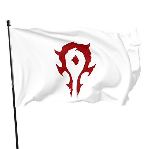 N / A World of Warcraft for The Horde Fahnen Flagge Flag Banner Polyester Material Gartenbalkon Gartendekoration Im Freien 90x150cm