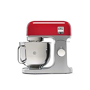 Kenwood kMix KMX750RD - Robot de Cocina Multifunción, 1000 W, Bol Metálico de 5 L con Asa, Gancho para Amasar, Varillas, Mezclado K, Acero Inoxidable, 6 Velocidades, Color Rojo