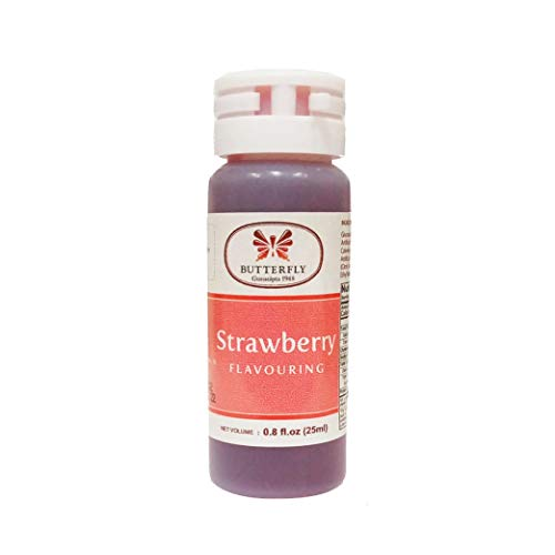 Butterfly Flavoring Extract Paste, 25 ml (Strawberry, Pack of 1)