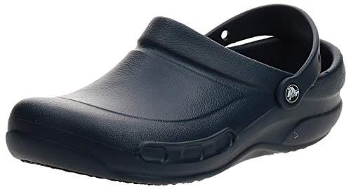Crocs Men's and Women's Bistro Clog | Slip Resistant Work Shoe, Navy, 13 Women / 11 Men