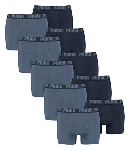 PUMA Herren Boxershorts Unterhosen 100004386 10er Pack, Wäschegröße:M, Artikel:-037 Denim