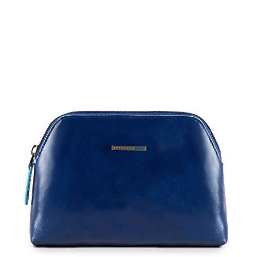 Piquadro Nécessaire Collezione Blue Square Beauty Case, Pelle, Arancione, 18 cm