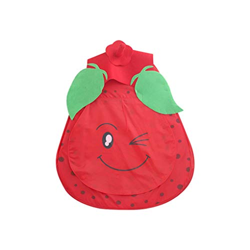 Floridivy Kinderen Meisjes Pop Up Indoor Tent Portable Cartoon Strawberry Play Tent Crawling Game Play House