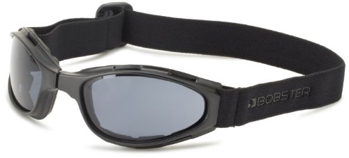 Bobster Crossfire Small Folding Goggles, Black Frame/Smoked Anti-Fog Lens