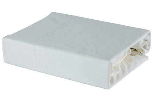 Bettlaken Spannbettlaken mit Öko-Tex! 28 Farben 100% Jersey (80 x 160 cm, Sahne)