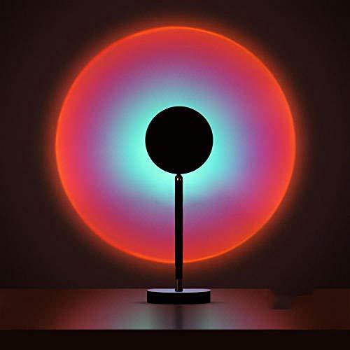 Topashe Decoración de Pared de Fondo,De Estar Decoración del Dormitorio,Lámpara Sunset Sunset, atmósfera de proyección LED-Rainbow