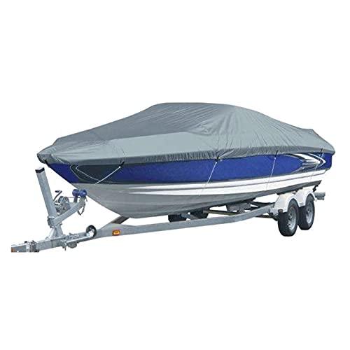 Nbxypeaus 11-22 pies TRAILERABLE 210D Cubierta DE Barco A Prueba de Agua Ski V-Hull a Prueba de Sol UV Cubierta de Amarre del Barco de lanco de Velocidad del Protector (Color : 14-16FT-V)