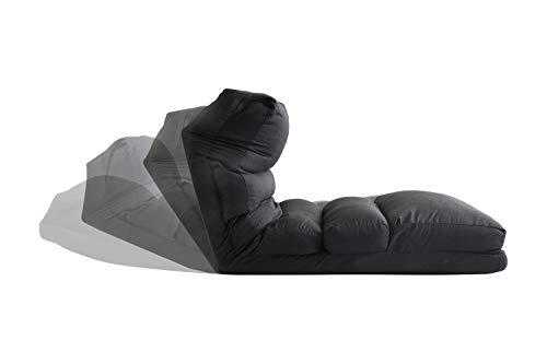 PUCHIKA Relaxliege mit Matratzefunktion, Relaxsessel Sonnenliege Klappmatratze verstellbar Grau, Schlafsessel Faltmatratze 175x54x24cm.