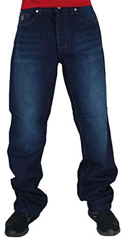 Rocawear Herren Doppel R Locker Sitzend Jeans, Dunkler Ritter Blau - Dunkler Ritter Blau, 34W / 34L