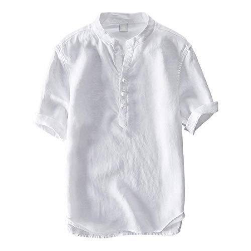 Camisa de Manga Corta de algodón de Verano para Hombres de Amazon de Gran...