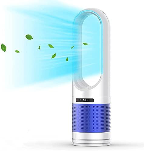 Ventilador de torre, ventilador oscilante de 32 pulgadas y purificador de aire en uno, ventilador de torre de temporizador 8H, ventilador de refrigeración silencioso portátil para dormitorio