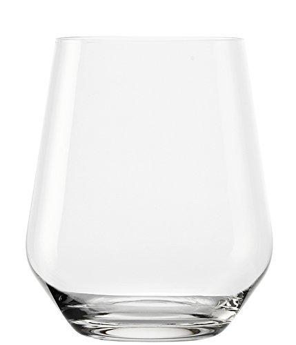 Stölzle Lausitz 370 ml Revolution Whiskey Glas/Wasserglas, 6er Set, spülmaschinenfest