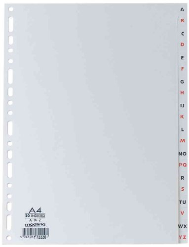 Elba 100204725 - Índice alfabético plástico, A4
