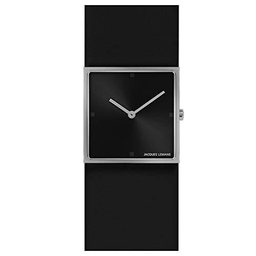 Jacques Lemans Damen-Uhren Analog Quarz One Size Schwarz 32016506