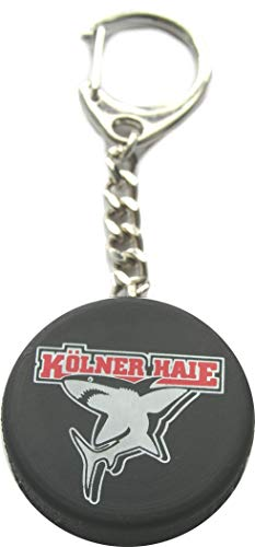 Kölner Haie Schlüsselanhänger Puck, Schwarz, one Size