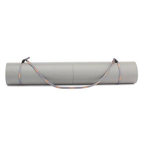Universal-Yogamatten-Trageband (grau-orange), einfache und günstige Transporthilfe für Yogamatten, verstellbar