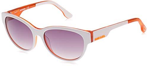 Diesel DL0013 24C -57 -16 -135 Diesel Sonnenbrille DL0013 24C -57 -16 -135 Schmetterling Sonnenbrille 57, Weiß