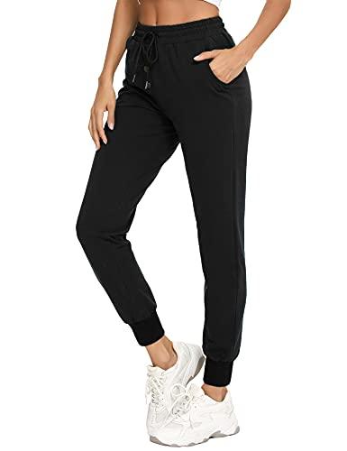 Doaraha Pantalones de Chándal para Mujer, Pantalones Deportivos de Jogging para Mujer, Pantalones Deportivos con Cordón para Fitness, Pantalón Deportivo de Algodón con Bolsillos de Mujer
