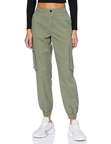 "Only ONLMADEA-Tiger Life MW Cargo Pant CC Pnt Pantaloni, Deep Lichen Green, 36/""32 Donna"