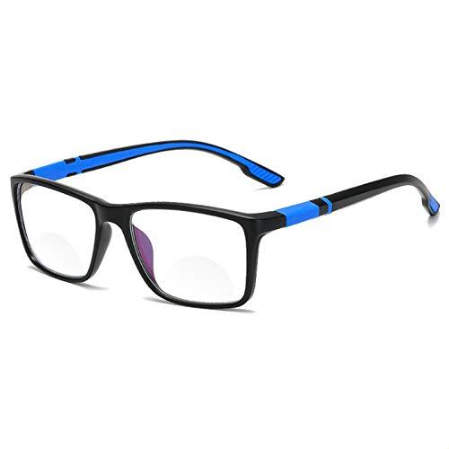 Gafas De Lectura Antihlue Gafas De Resina Ultra Ligera Gafas De Computadora Formas Flexibles De Luz Portátiles +1.0 1.5 2 2.5 2. (Eye Prescription : +300, Frame Color : Blue)